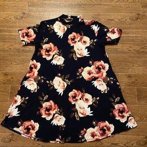 Sweet Lovely | Mock neck floral dress